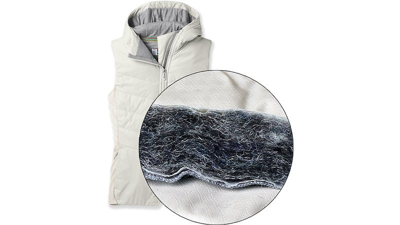 Smartwool recycles merino offcuts from its base layer production process to create Smartloft.