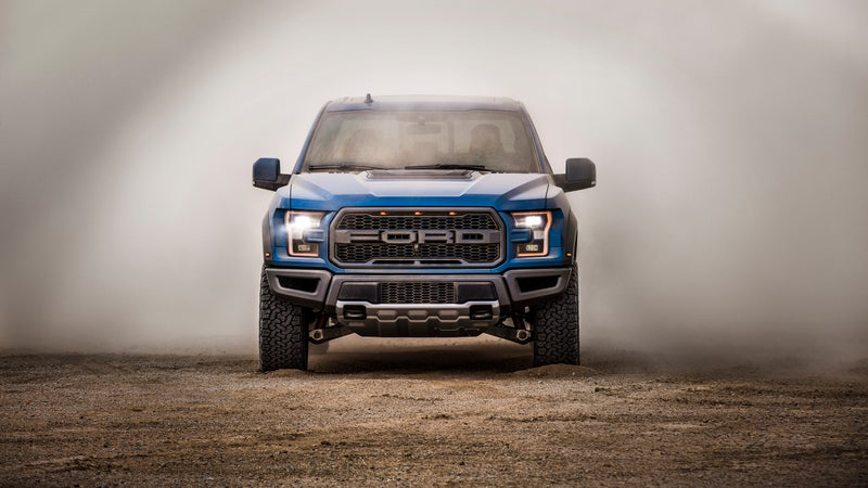 With wider front suspension dictating the flared wheel wells, there's no mistaking the Raptor's face for any other vehicle.