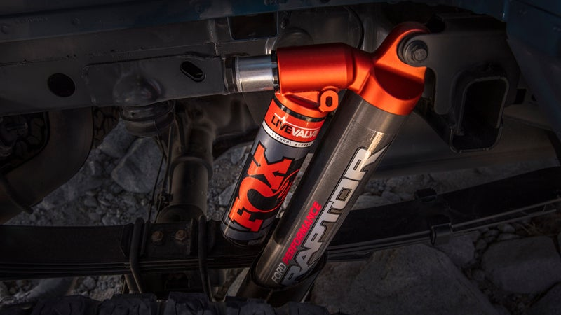 Already the highest-quality suspension system available on a factory-stock vehicle, the addition of active compression-damping adjustment elevates the Raptor's most important component to a whole new level.