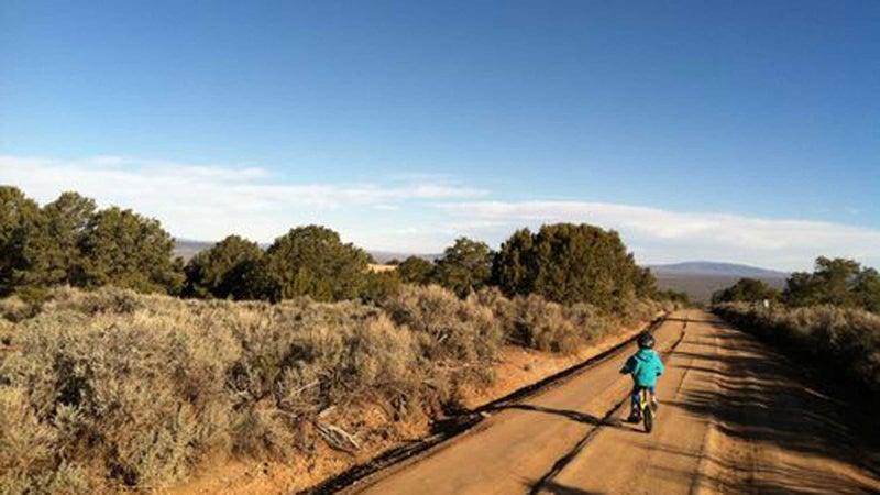 Downshifting in Taos.