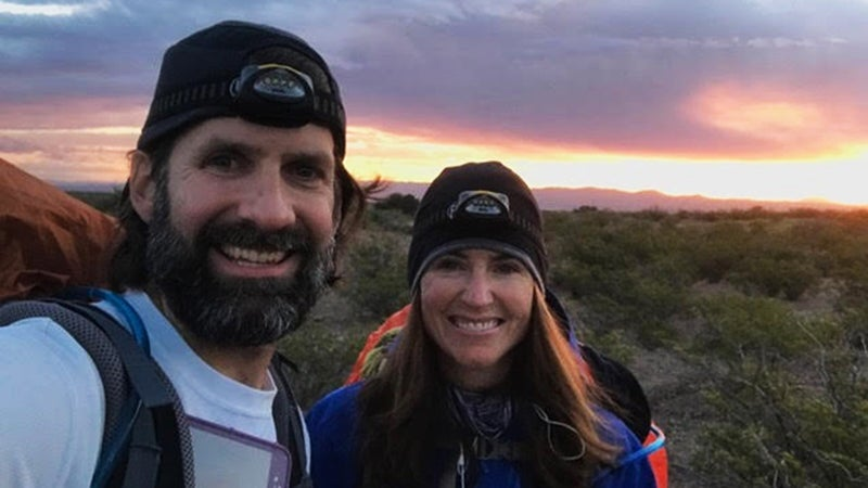 Thru-hikers Jill and Joel Kavanaugh on the CDT.