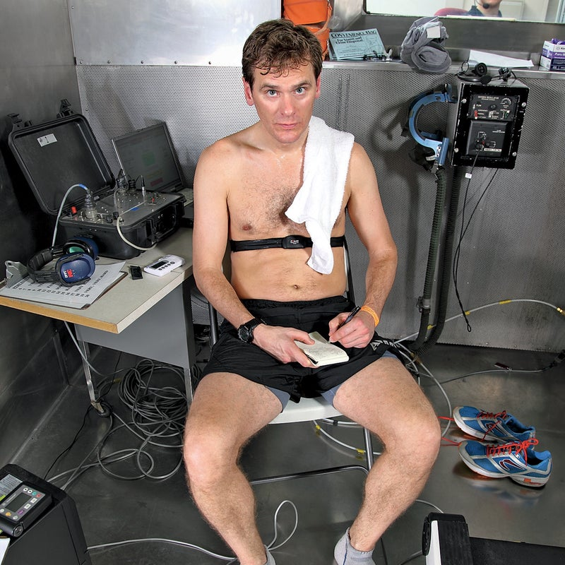 Sweating it out in the heated altitude chamber