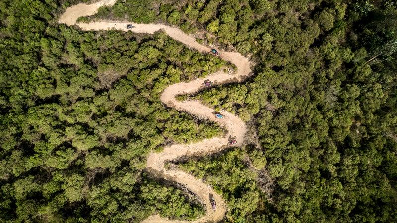 Mountain biking in Guatemala.