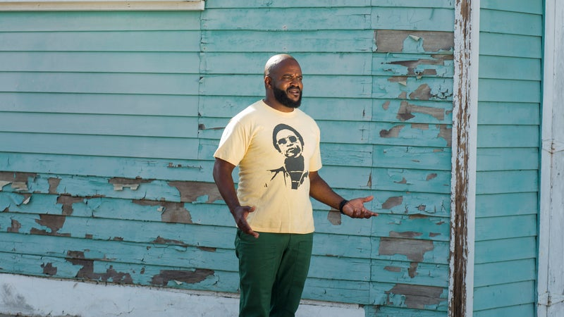 Masekela near his home in Venice, California