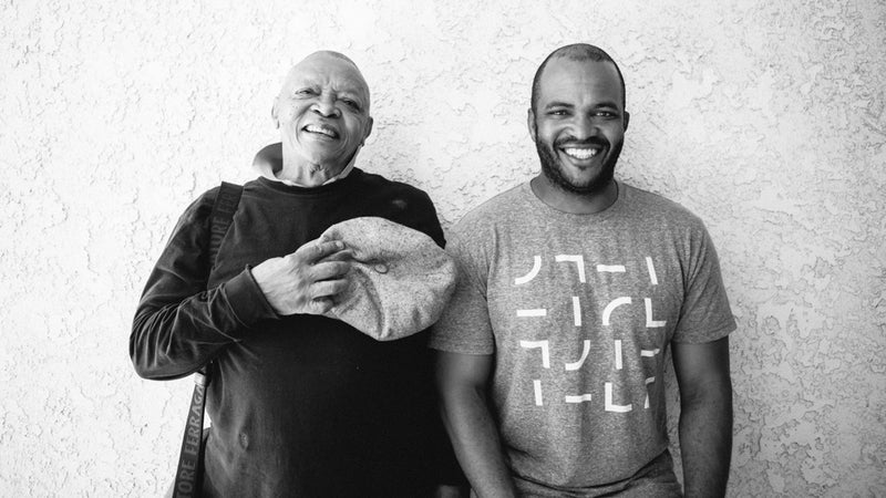 Masekela with his father, Hugh, in 2016