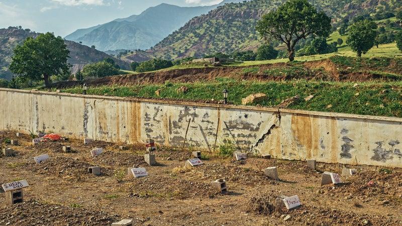 Gravestones of PKK fighters in Qandil