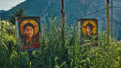PKK martyr billboards in Qandil
