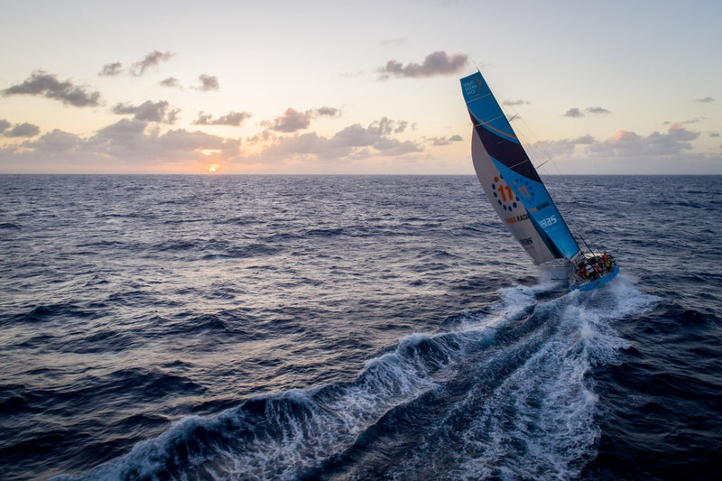 Shot on January 15, 2018, during leg four of the Volvo Race, from Melbourne, Australia, to Hong Kong. It's day 14 for Vestas 11th Hour Racing.