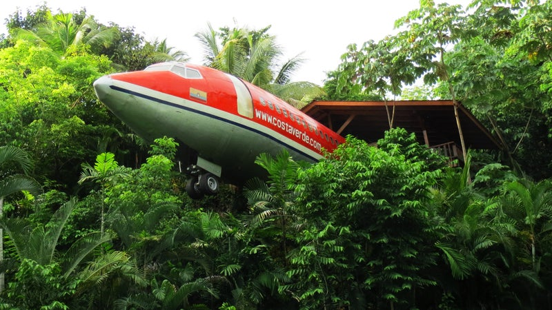The Hotel Costa Verde converted this Boeing 727 into a luxury bungalo that you can stay in.