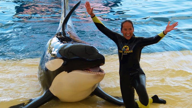 Orca Ocean trainer Claudia Vollhardt.