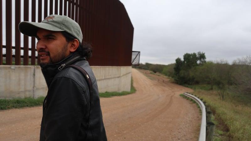 Ernest Herrera at the border.