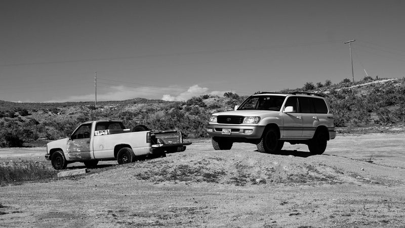 Big meaty tires look even better in black and white.