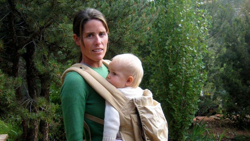 The author and her daughter Pippa in 2009, shortly after the trail attack