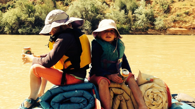 Pippa and Maisy on the San Juan River