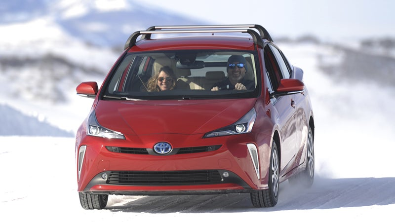 The author during a test drive of the new AWD-e Prius