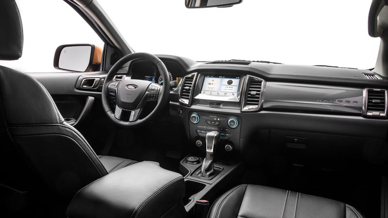 It's no Dodge Ram, but this is a heck of a nice interior for a mid-size truck.