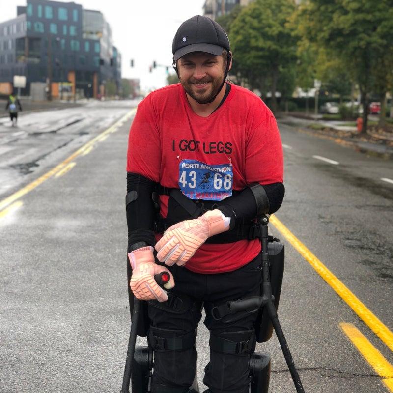 Gorlitsky at the Portland Marathon in Oregon