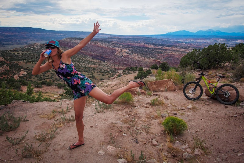 The newly pregnant author on her Pepsi-fueled mountain-biking hut trip