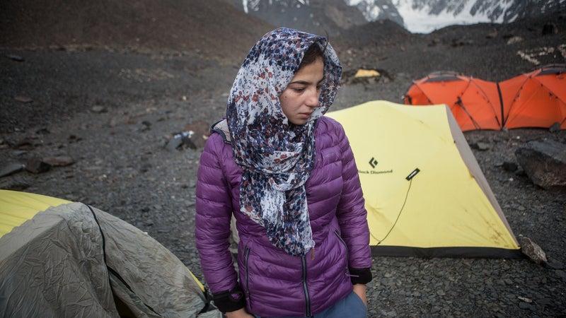 Bayat at base camp