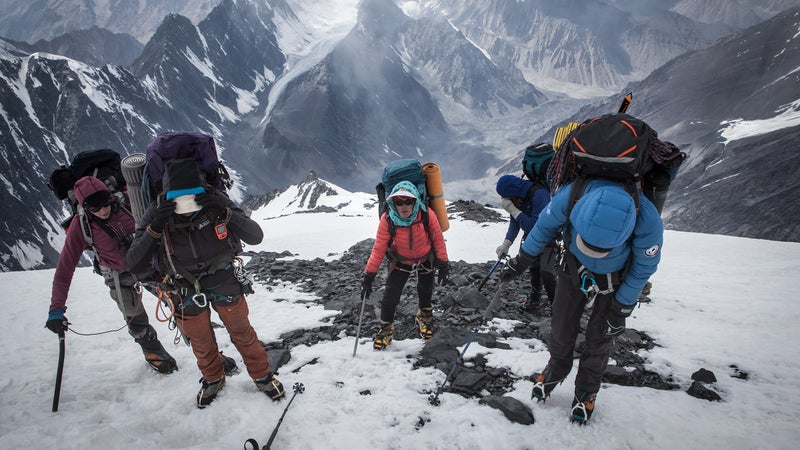Little is known about routes to the top of Noshaq, and the team encountered ice and deep snow.