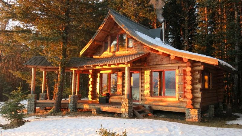 Van Hemert and Farrell's cabin in Haines, Alaska