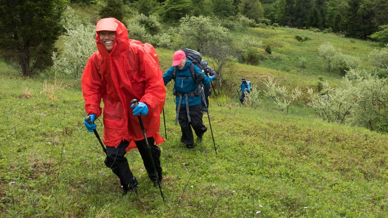 Matt stayed relatively warm and dry by using the Showa gloves and Packa poncho-jacket-pack cover.