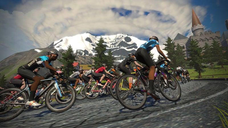 Alpe Du Zwift, a facsimile of the famous Tour de France climb Alpe d'Huez.