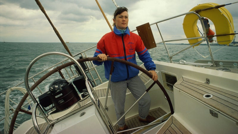 Tracy Edwards in 1990. The previous year, she captained the first all-female crew to sail around the world.