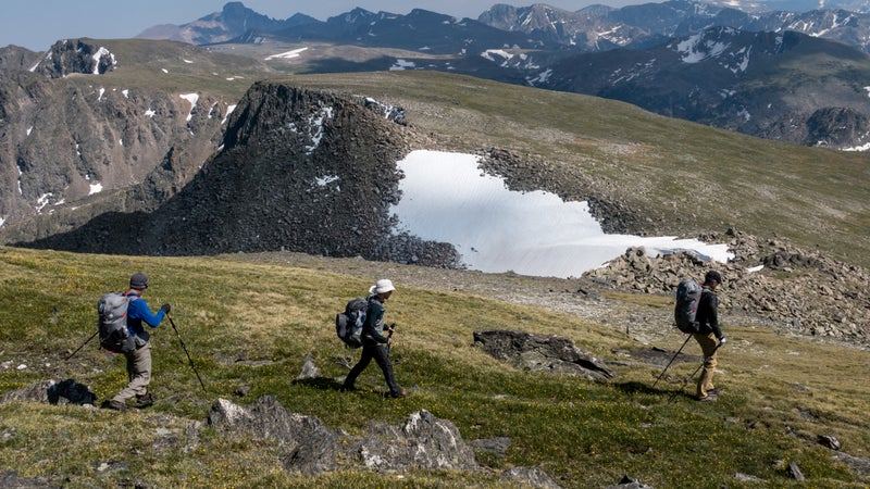 I offer three-to-seven-day backpacking trips, mostly in the Mountain West.