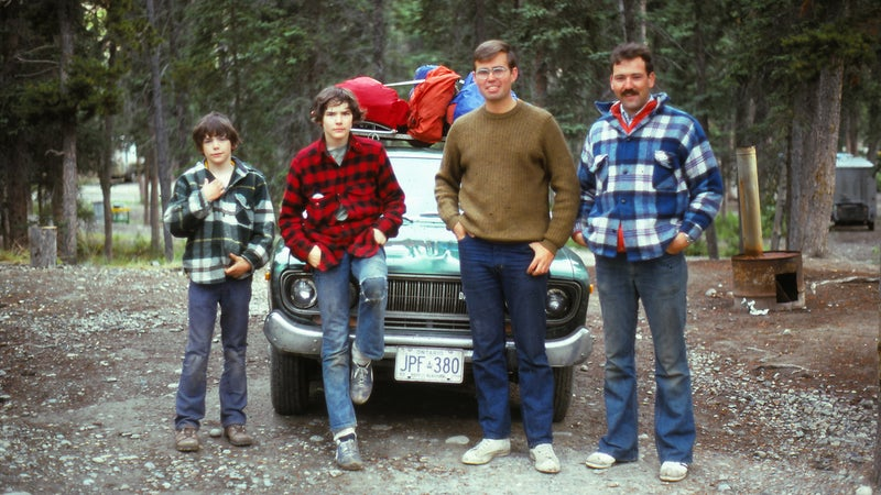 The author (left) and his brother, Mike, along with their two Canadian BFFNs.