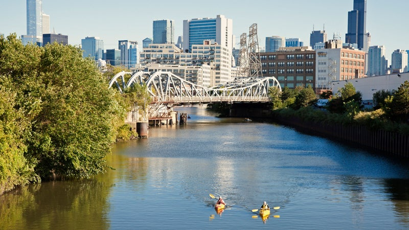 Paddling on the Chicago River