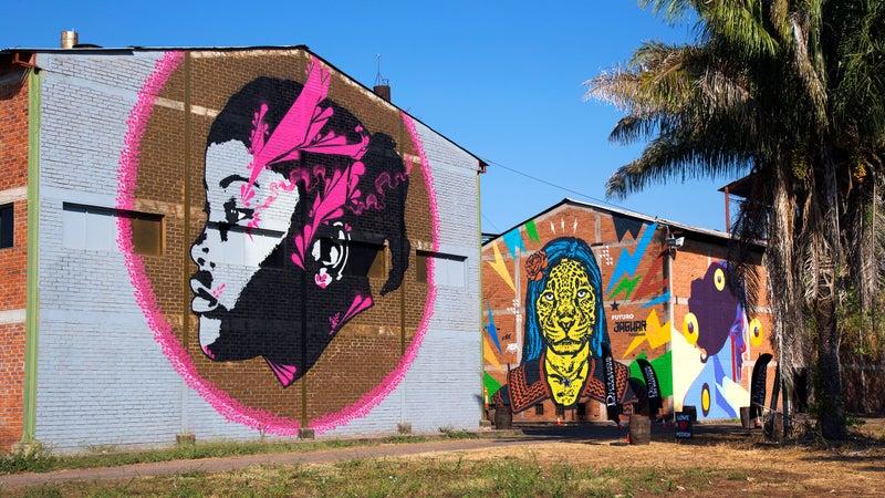 Graffiti art at a former Dictador rum facility.
