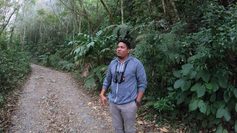 Gabo, Colombia's most well-known birding guide.