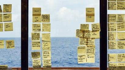 Post-it Notes aboard the Resolute