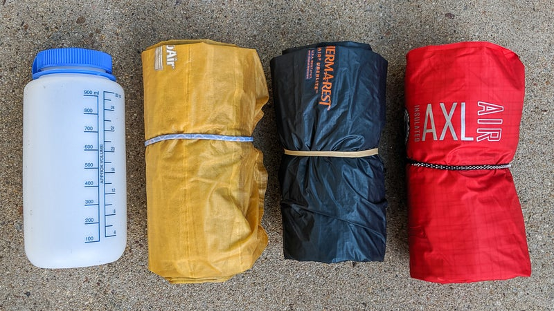 The UberLite (center) is smaller than the XLite (left) and the Big Agnes AXL Air (right), all size regular. But the difference is small, and I'd say that other factors should drive your buying decision.