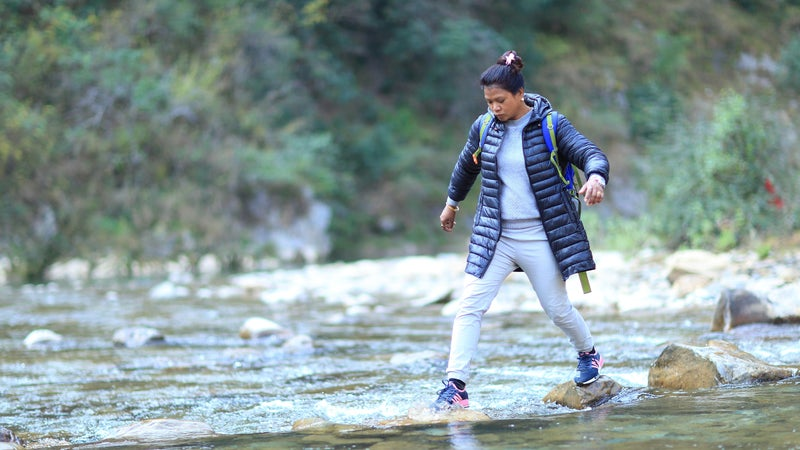 Kalawati Chaudhary has been injured several times on these trips. She once lost her footing on a cliff and tumbled toward the Mahakali River.