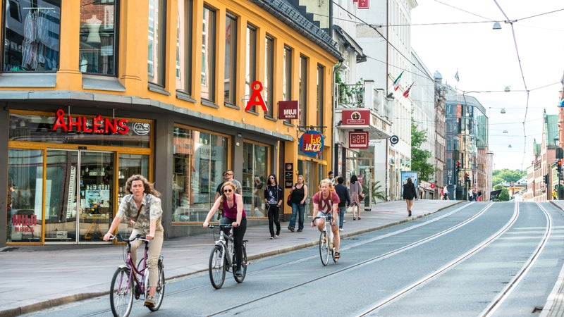 Norway is spending almost $1 billion to build bike paths in and around its largest cities, allowing for safer bike commuting.