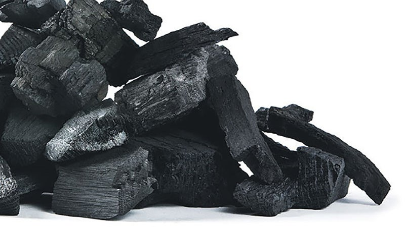 What real charcoal actually looks like.