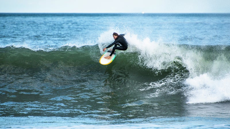 Rhode Island has consistent swell in the fall.