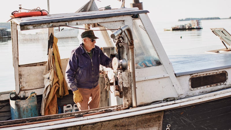 John Olson on his boat
