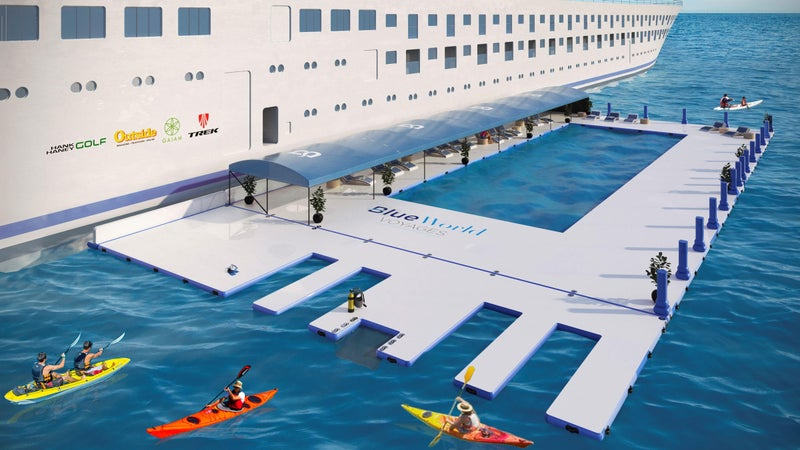 The Blue Voyage ship will have a seawater pool for open-water swimming training.