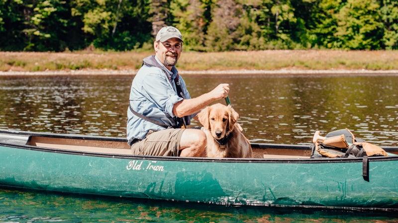 Ferryman and dog