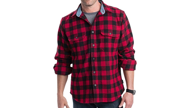 The pattern is called buffalo plaid. The material is flannel.