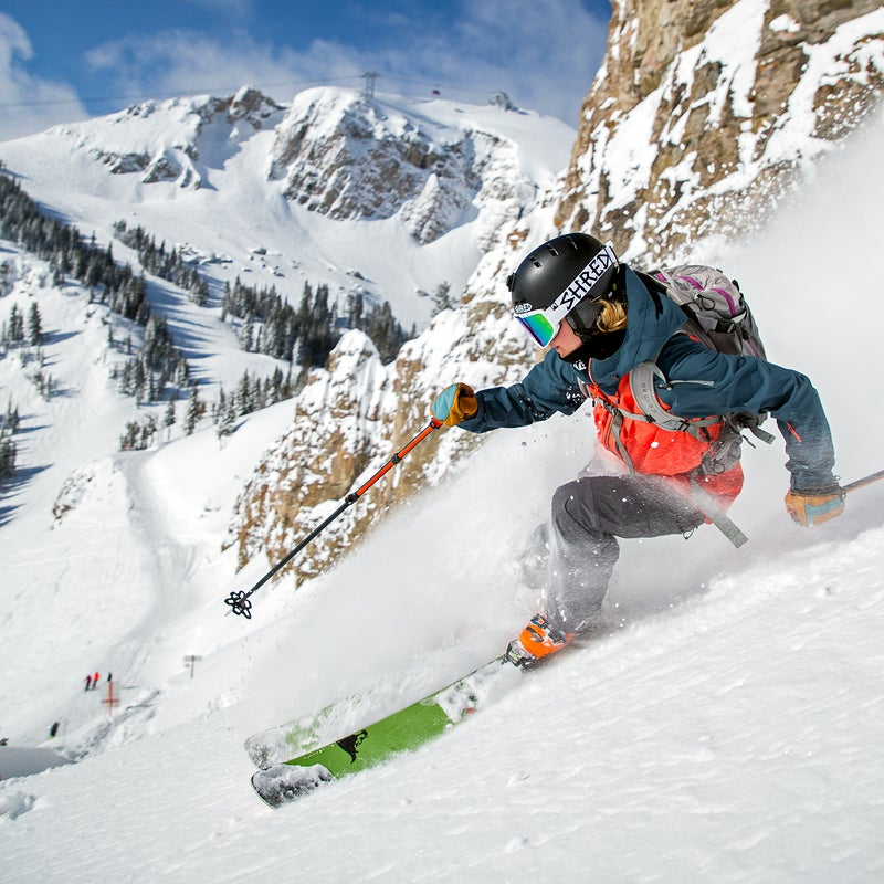 Caite Zeliff on the Headwall in Jackson Hole