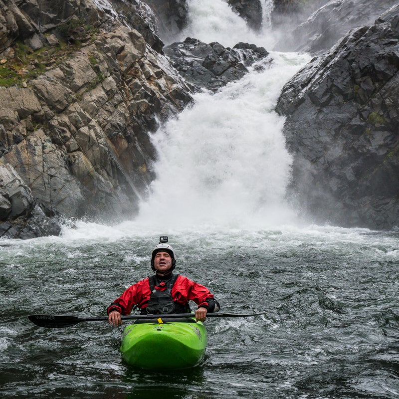 """""""Learning to talk about the pain inside helped me let it go, so I wouldn't need to bury it in a river canyon or a bottle of booze,"""" says Lindgren, seen here below a rapid called Scott's Drop on the North Fork of the American River that he was the first to run."""
