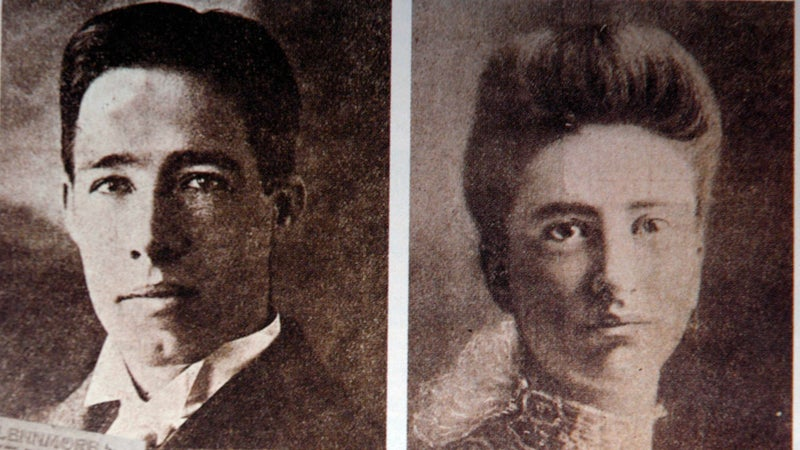 Chester Gillette (left) was convicted and put to death for the murder of Grace Brown, his pregnant lover.