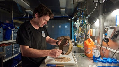 Chief Scientist Alan Jamieson in the lab