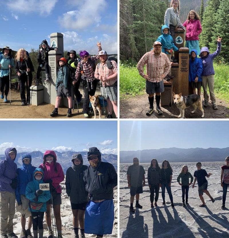 PCT Hiking Family