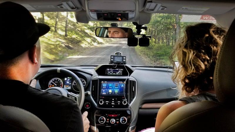 Scene in the car