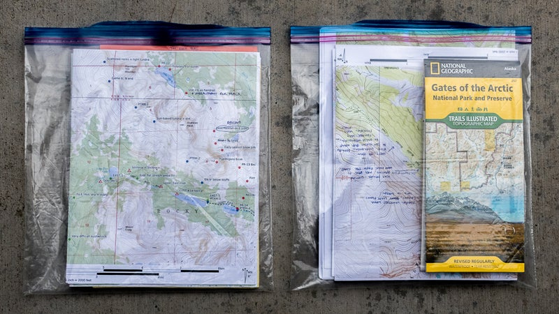 My two-bag map carrying system